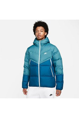 Nike Men's Sportswear Storm-FIT Windrunner Zip-Up Down Jacket in /Rift Size Small 100% Polyester
