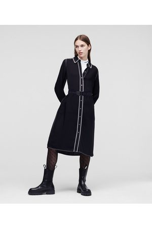 Karl Lagerfeld Women Casual Dresses - SHIRT DRESS WITH CONTRAST TRIM
