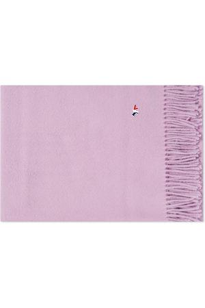 Maison Kitsuné Men Scarves - Maison Kitsuné Tricolor Fox Wool Scarf