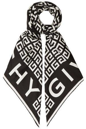 Givenchy Women Scarves - 4g-jacquard Silk-faille Scarf - Womens