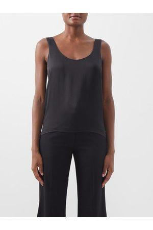 Raey Scoop-neck Silk-crepe Satin Tank Top - Womens