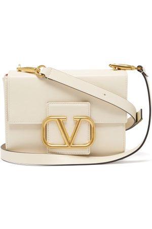 VALENTINO GARAVANI V-logo Small Leather Shoulder Bag - Womens
