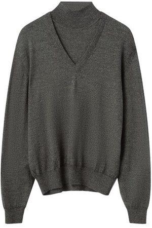 LEMAIRE Layered High-neck Sweater - Mens - Dark Grey