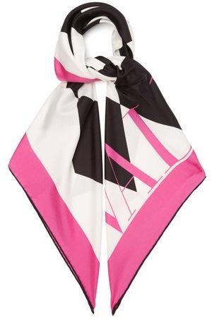 VALENTINO GARAVANI Logo-print Silk-faille Scarf - Womens