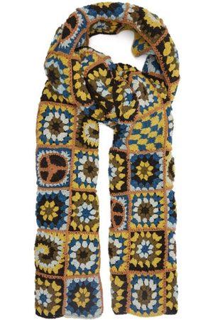 Story Piece Xl Crocheted Organic-cotton Scarf - Womens - Multi