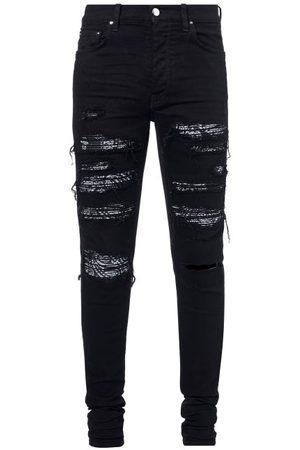 AMIRI Men Skinny - Bandana-underlay Distressed Skinny-leg Jeans - Mens