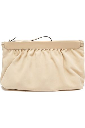 Isabel Marant Luz Suede And Leather Clutch Bag - Womens