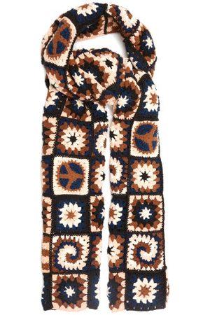Story Piece Xl Crocheted Organic-cotton Scarf - Womens - Navy Multi