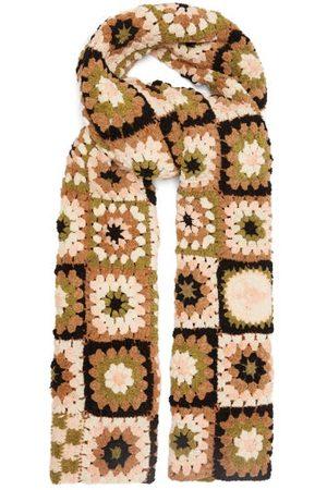 Story Women Scarves - Piece Xl Crocheted Organic-cotton Scarf - Womens - Multi