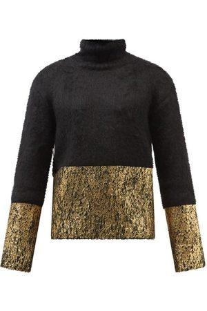 Dolce & Gabbana Laminated Mohair-blend Roll-neck Sweater - Mens - Multi