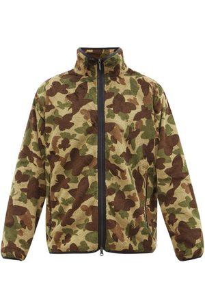 Pins & Needles Butterfly Camouflage-print Fleece Jacket - Mens