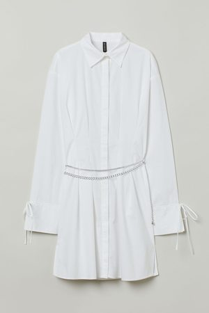 H&M Chain-belt Shirt Dress