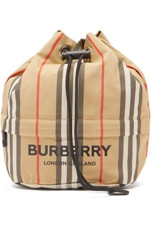 Burberry Phoebe Icon-stripe Canvas Pouch - Womens - Multi
