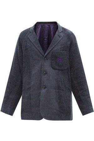 Pins & Needles Men Blazers - Single-breasted Glen-plaid Twill Suit Jacket - Mens - Navy