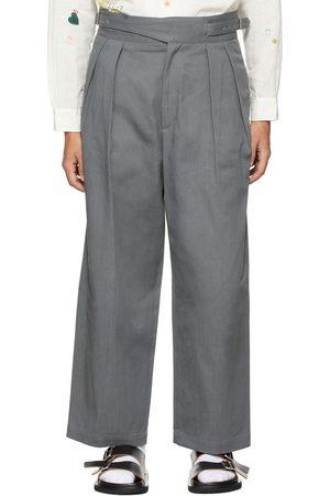 KURO Men Wide Leg Pants - Wide Gurkha 2Tuck Trousers