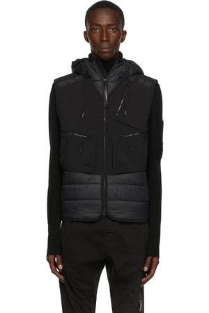 C.P. Company Black Shell-R Mixed Goggle Vest