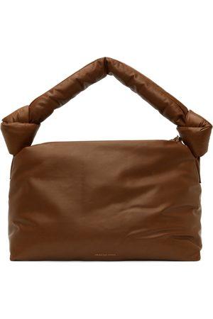 DRIES VAN NOTEN SSENSE Exclusive Brown Leather Puffer Bag