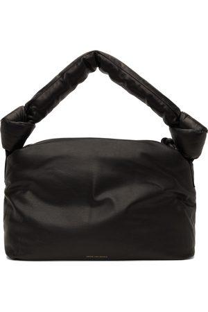 DRIES VAN NOTEN Black Leather Puffer Bag