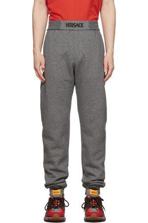 VERSACE Grey Logo Sweatpants