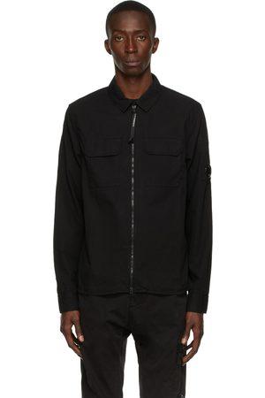 C.P. Company Black Gabardine Zip Shirt
