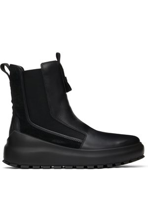 Stone Island Leather & Suede Chelsea Boots