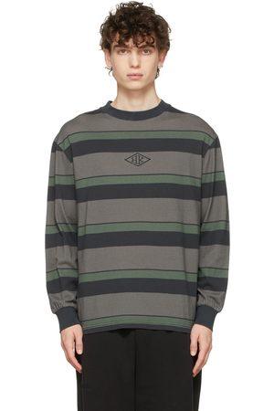 HAN Kjøbenhavn Grey & Black Striped Boxy Long Sleeve T-Shirt