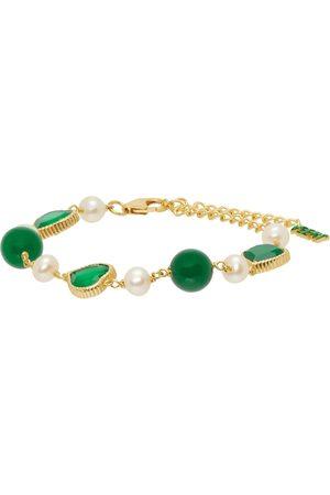 VEERT Green Onyx Freshwater Pearl Bracelet