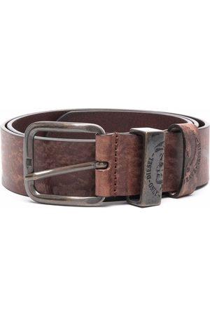 Diesel Men Belts - Treated faded-finish leather belt