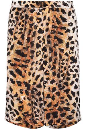 Endless Joy Men Bermudas - Leopard print silk Bermuda shorts