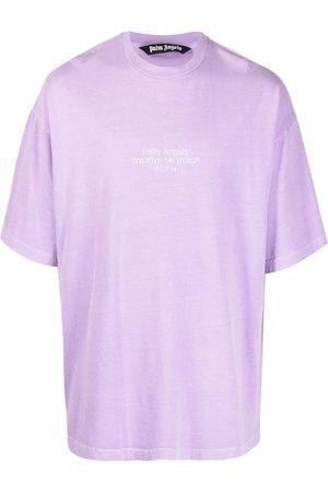 Palm Angels Men T-shirts - PXP CREATIVE SERVICES EMB TEE LILAC BLA