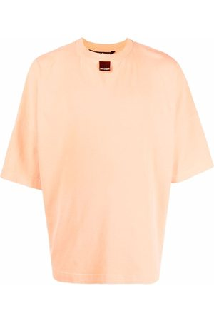 Palm Angels Men T-shirts - BLURRED LOGO OVER TEE FLUO BLAC