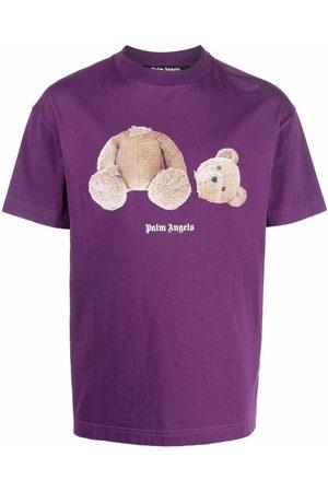 Palm Angels Men T-shirts - PA BEAR CLASSIC TEE BROWN
