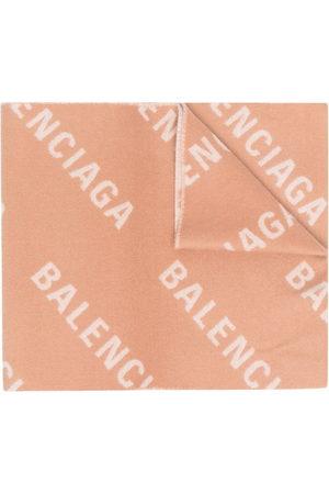 Balenciaga All-over logo scarf - Neutrals