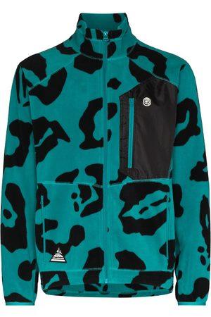 Billionaire Boys Club Men Fleece Jackets - Leopard print fleece jacket