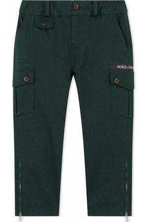 Dolce & Gabbana Boys Cargo Pants - Gabardine cargo trousers