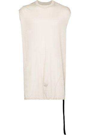 Rick Owens Cap-sleeve cotton tank top - Neutrals