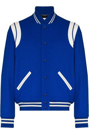 Saint Laurent Men Fleece Jackets - Varsity Classic Teddy bomber jacket