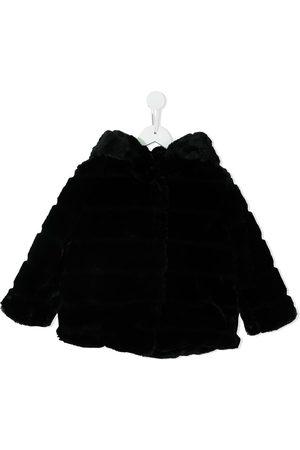 Apparis Hooded faux-fur coat
