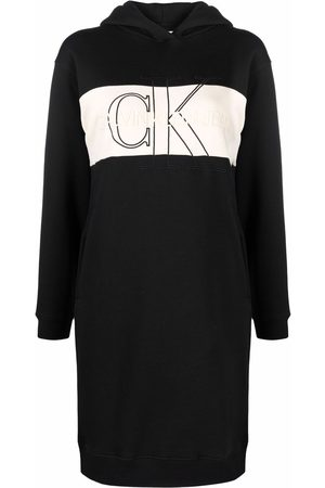 Calvin Klein Logo-embroidered hoodie dress