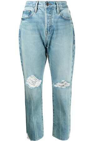 Frame Women Tapered - Distressed tapered jeans