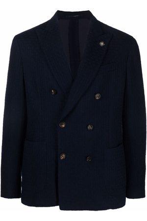 Lardini Men Blazers - Double-breasted wool blazer
