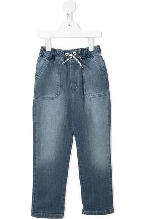 BONTON Boys Straight - Drawstring straight-leg jeans
