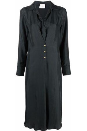 ALYSI Buttoned silk shirt dress - Grey