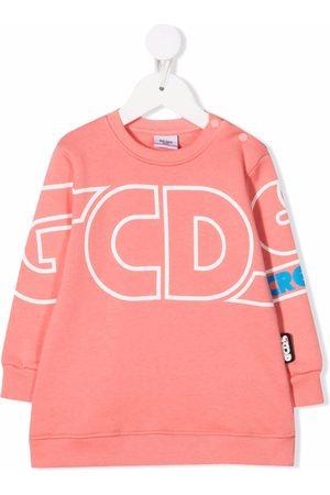 GCDS Logo print sweatshirt dress