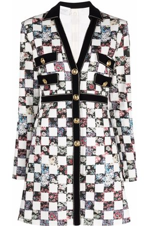 Giambattista Valli Women Casual Dresses - Floral-check tailored shirt dress
