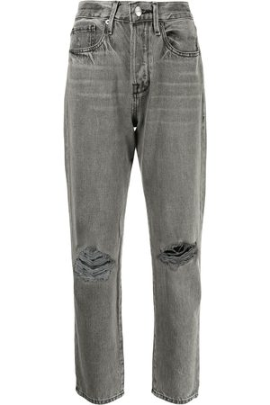 Frame Women Tapered - Grey distressed mom jeans