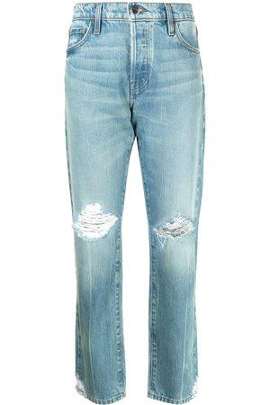 Frame Women Straight - Distressed straight-leg jeans