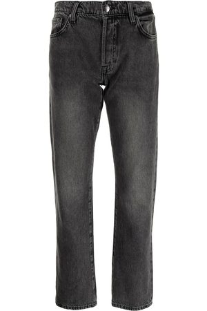 Frame Logo patch straight-leg jeans