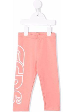 GCDS Logo-print cotton-blend trousers
