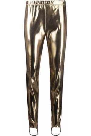 Dsquared2 Faux leather stirrup leggings